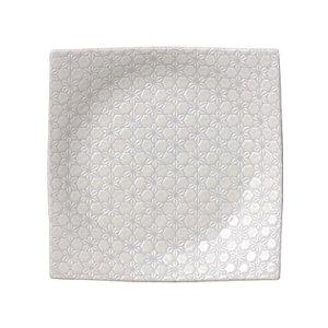 画像1: 【市蔵】白手引き7.5寸正角皿