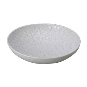 画像1: 【市蔵】白メタ9.5寸鉢