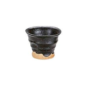画像1: 【まったり】黒織部ヒネリ一口カップ