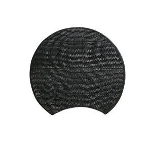 画像1: 【BON】月型陶板 カヤ目 小 黒