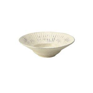 画像1: 【HA-RE】リム丸皿 白