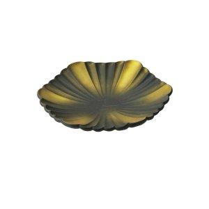画像1: 【REKKA -烈火-】菊六角皿 金黒