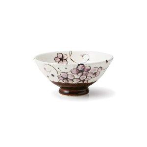 画像1: 【飯碗コレクション】紫小花飯碗 小